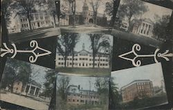 Views of College Buildings Postcard