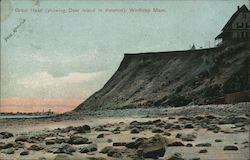 Great Head with Deer Island in Distance Postcard