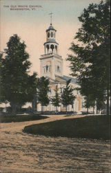The Old White Church Postcard