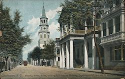 Meeting Street, South, Showing S.C. Society Building Organized