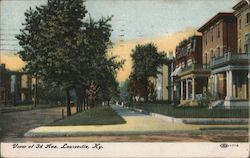 View of 3rd Ave. Postcard