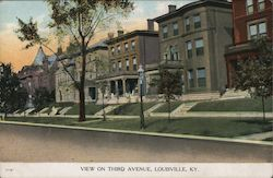 View on Third Avenue Postcard