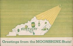 Greetings From the Moonshine State Postcard