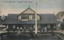 Canadian Pacific Depot, Henderson Postcard