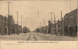 Washington Street, looking North from Burdick Postcard