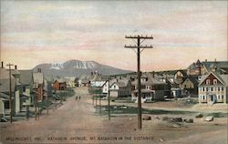 Katahdin Avenue, Mt. Katahdin in the Distance Postcard