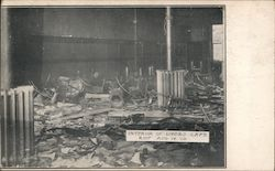 Interior of Loper's Cafe Race Riot August 14, 1908 Postcard