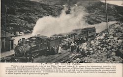 Summit of White Pass - Excursion Train Postcard