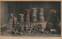 Native Alaska Baskets, Chilkat Blanket and Bear Rug Postcard