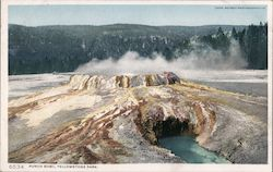 Punch Bowl, Yellowstone Park Postcard
