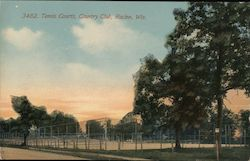Tennis Courts, Country Club Postcard