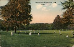 Tennis Courts in Orange Park Postcard