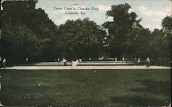 Tennis Court in Cherokee Park Postcard