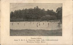 Tennis Courts - State Y.M.C.A. Training Camp, Lake Cobbosseecontee