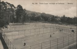 Tennis Courts, University of California Postcard