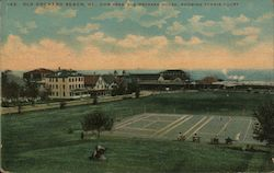 View From Old Orchard House, Showing Tennis Court