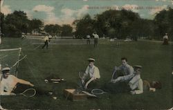 Tennis Court in Lincoln Park Postcard