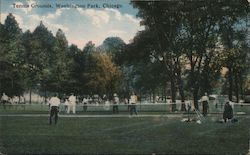 Tennis Grounds, Washington Park Postcard