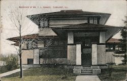 Frank Lloyd Wright House: Residence of Mr. F. L. Hankey  301 S. Kenilworth Ave Postcard