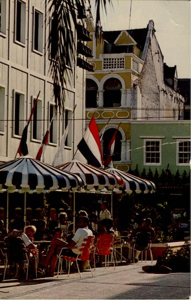 Outdoor Café On Da Costa Gomez Square Curacao Caribbean Islands