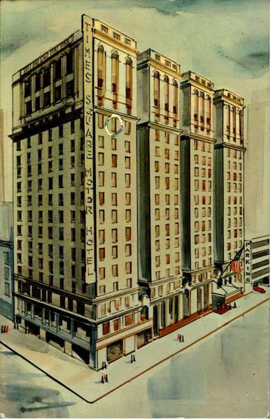 Times Square Motor Hotel 43rd Street West Of Broadway New