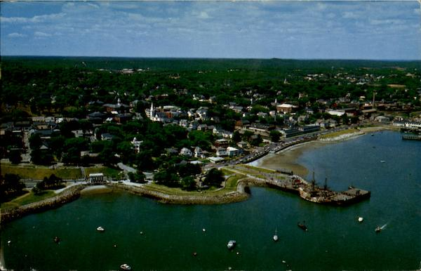 Aerial View Plymouth Massachusetts