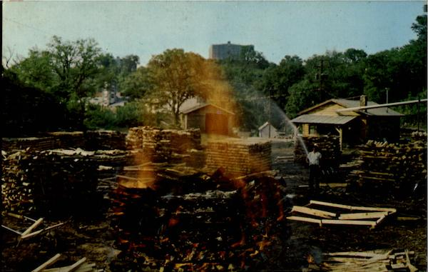 Making Charcoal At Jack Daniel's Lynchburg Tennessee