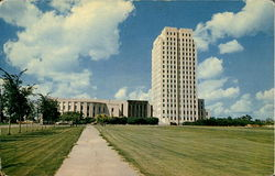 State Capitol Building Located At Bismarck