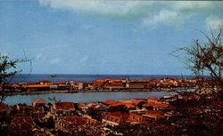 View Of Town From Berg Arrarat Postcard