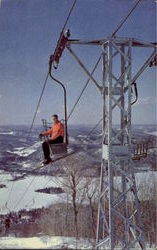 Upper Ski Lift On Mont Tremblant Postcard