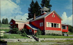 Red Schoolhouse Restaurant And Gift Shop Postcard