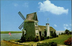 Windmill House On Bass River Postcard