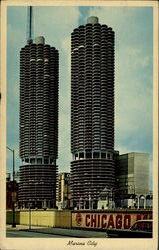 Marina City Postcard