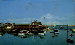 Rockport Yacht Club And Harbor Postcard