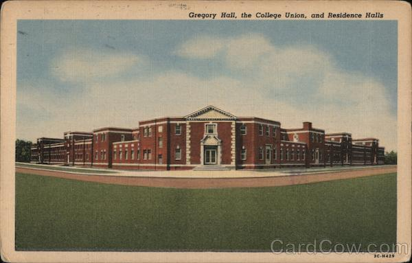 Gregory Hall, the College Union and Residence Halls-State Teachers College Fredonia New York