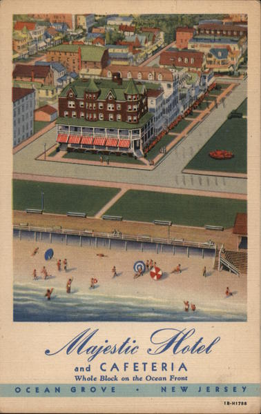 Majestic Hotel and Cafeteria Ocean Grove New Jersey