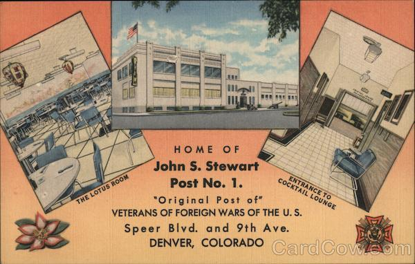 The Lotus Room - Home of John S. Stewart VFW Denver Colorado