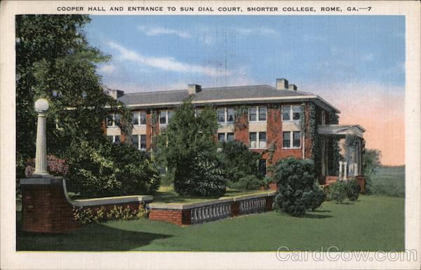 Cooper Hall and Entrance to Sun Dial Court, Shorter College Rome Georgia