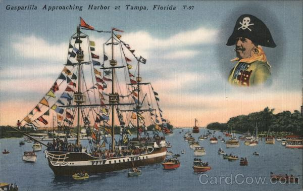 Gasparilla Approaching Harbor Tampa Florida