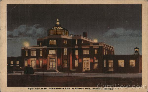 Night View of the Administration Building at Bowman Field Louisville Kentucky