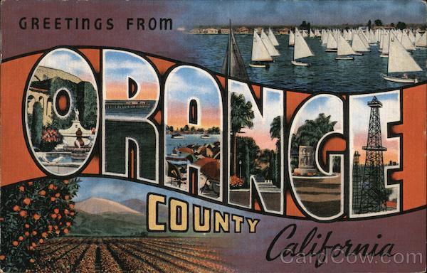 Greetings from orange county california postcard greetings from orange county california m4hsunfo