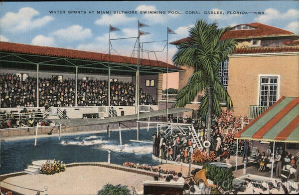 Water Sports at Miami Biltmore Swimming Pool Coral Gables Florida