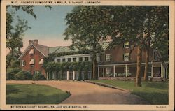 Country Home of Mr. & Mrs. P.S. DuPont Postcard