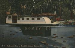 Underwater Boat at Beautiful Rainbow Springs, Fla. Postcard
