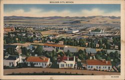 Boulder City, Nevada Postcard
