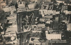Aerial View of Business Center Postcard