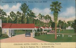 Colonial Hotel Courts Postcard
