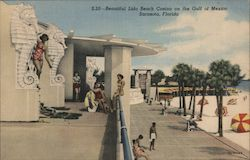 Beautiful Lido Beach Casino on the Gulf of Mexico Postcard