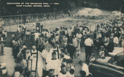 Dedication of the Swimming Pool, Camp Palmer Postcard