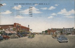 Main Business District Postcard